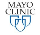 """Mayo Clinic recruiting marketing logo"""